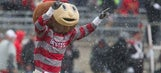Brutus Buckeye, Reds show support for Blue Jackets