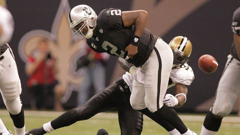 QB JaMarcus Russell, No. 1 pick in 2007, Oakland Raiders