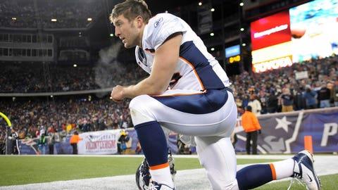 Broncos: QB Tim Tebow (No. 25, 2010)