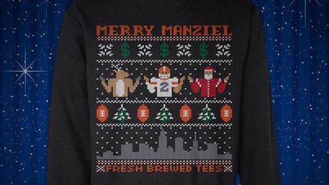 NFL player ugly Christmas sweater