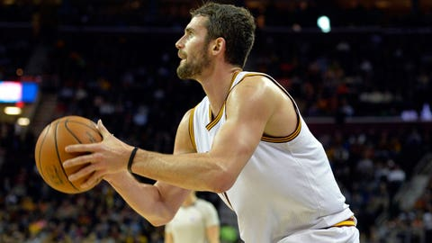 Kevin Love on fire