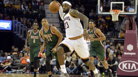 LeBron in transition