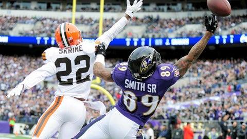 Steve Smith Sr., WR, Ravens (ankle): Out