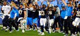Chargers claim final AFC playoff spot with OT win.