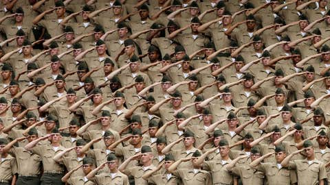 Recruits salute