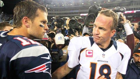 QBs Tom Brady (Patriots)/Peyton Manning (Broncos)