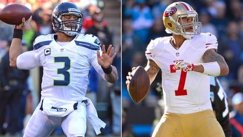 QBs Russell Wilson (Seahawks)/Colin Kaepernick (49ers)