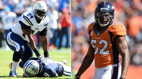 DE Corey Liuget, Chargers/LB Wesley Woodyard, Broncos