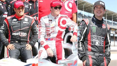 Row 4: Montoya/Dixon/Busch