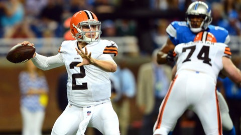 Stock UP: Johnny Manziel, Cleveland Browns -- Quarterback