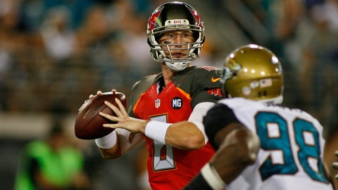 Stock DOWN: Mike Glennon, Tampa Bay Buccaneers -- Quarterback