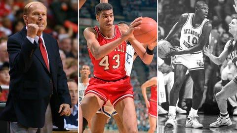 22 -- 1988: (1) Oklahoma 108, (5) Louisville 98