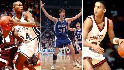 3 -- 1990: (1) UConn 71, (5) Clemson 70