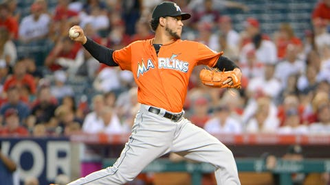14 -- SP Henderson Alvarez, Miami Marlins