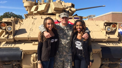 FOX Sports South Girls Salute the Troops at Fort Benning