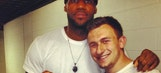 LeBron James welcomes Johnny Manziel to team on Instagram