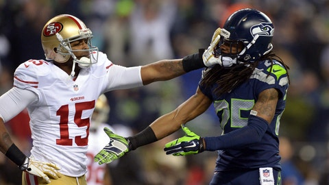 Will Michael Crabtree mention Richard Sherman in a tweet during the Super Bowl from kickoff until final whistle?