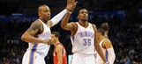 Westbrook, Durant lead Thunder past 76ers in Butler's first game