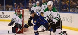Stars score emotional OT win over Blues