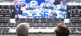 Conan O'Brien plays 'Madden' on giant screen at AT&T Stadium