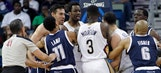 Pelicans' Rivers, Thunder's Collison ejected for 'fighting fouls'