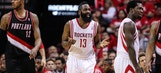 Report: Frustrated Harden argues with reporter after Rockets' loss