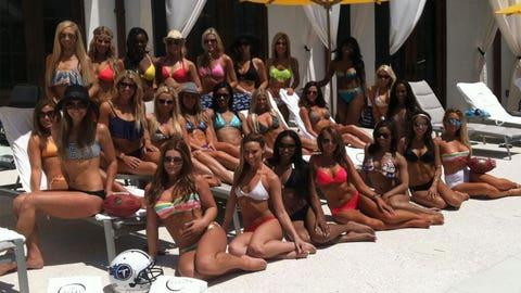 Tennessee Titans Cheerleaders at Rosemary Beach