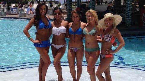 Houston Texans Cheerleaders in Puerto Rico