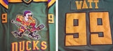 Texans' Watt receives personalized Mighty Ducks jersey as gift