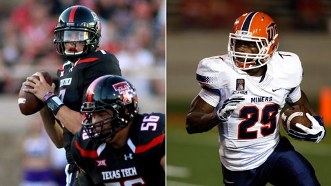 Texas Tech at UTEP, Saturday, 11 p.m. ET, FOX Sports 1