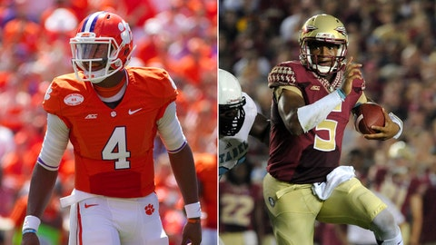 No. 22 Clemson at No. 1 Florida State, Saturday, 8 p.m. ET, ABC