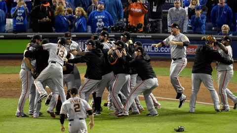 October top story: Oct. 29 -- Giants win third World Series in five years