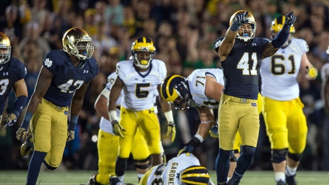 Notre Dame vs. Michigan - Last played: 2014