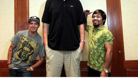 Yao Ming vs. Brandon Rios and Manny Pacquiao