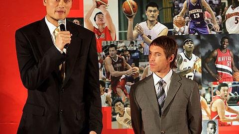 Yao Ming vs. Steve Nash