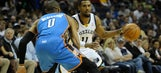 Short-handed Grizzlies no match for Westbrook, Thunder