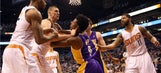 Lakers guard Nick Young ejected for throwing punches after hard foul