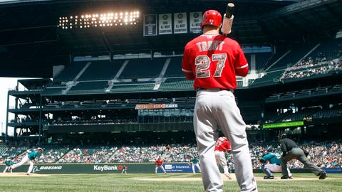 Low: Mike Trout's aching back