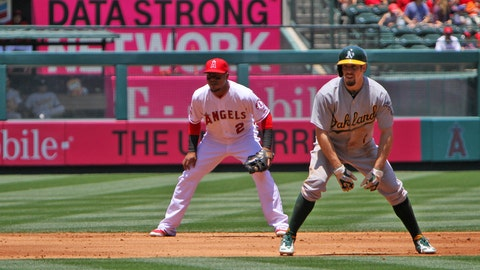 Angels fall to A's, 8-1