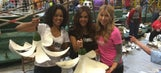 FOX Sports West Girls help decorate the AYSO Rose Parade Float