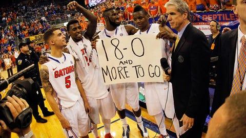 Florida Gators (30-2, 18-0 SEC, AP rank No. 1, RPI 2, SOS 25)