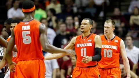 Syracuse Orange (27-5, 14-4 ACC, AP rank No. 11, RPI 9, SOS 70)