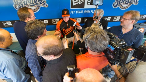 Orioles at Brewers: 5/26/14-5/28/14
