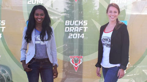 Bishara & Sage joined fans at the World's Largest Draft Party at Summerfest.