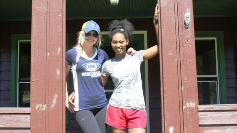 The FOX Sports Wisconsin Girls picked their cabin and are ready for a game of Gaga Ball with the campers!