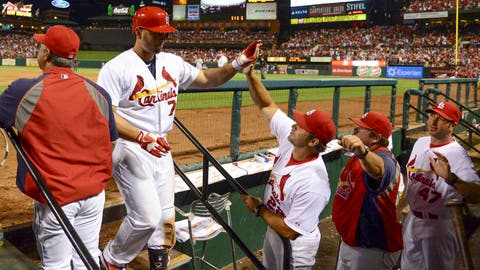 St. Louis Cardinals, 54-45, T-first place