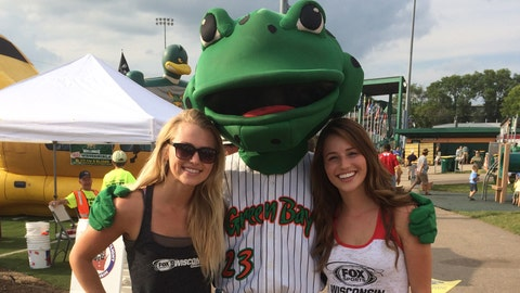 He doesn't have a chalet like Bernie, but Chyna and Sage were excited to meet the Green Bay Bullfrog.
