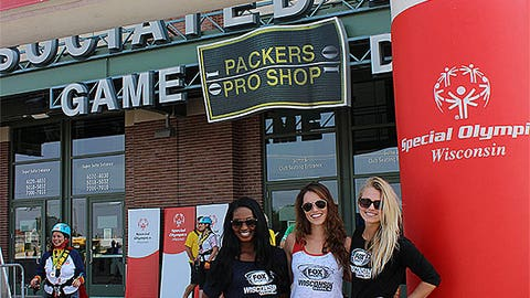 """The FOX Sports Wisconsin Girls are ready to """"Go Over the Edge"""" and rappel off of Lambeau Field to help raise awareness for Special Olympics Wisconsin."""