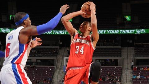 Bucks at Pistons: 10/9/14