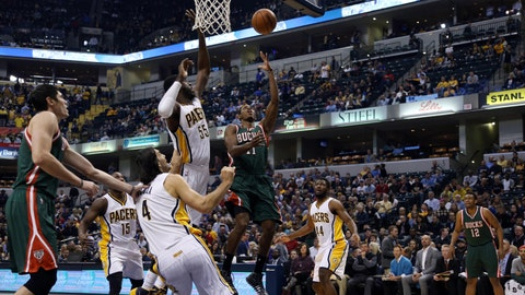 Bucks at Pacers: 11/4/14